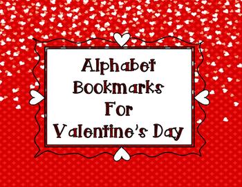 Valentine's Day Alphabet Bookmarks