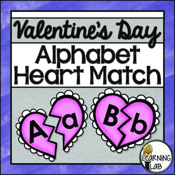 Valentine's Day Alphabet Match