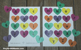 Valentine's Day Alphabet Matching Activity Heart Shape Game Lowercase Letters