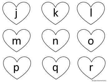 Valentine's Day Alphabet and Number Hearts