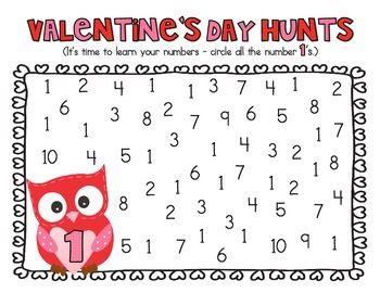 Valentine's Day - Alphabet and Number Hunt Pack