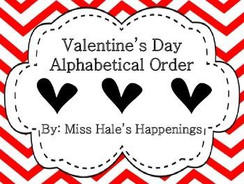 Valentine's Day Alphabetical Order (ABC Order)