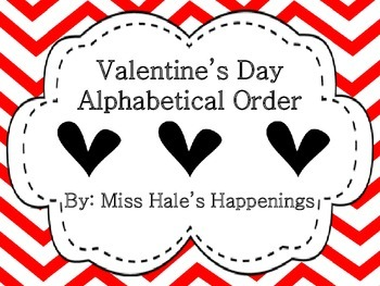 Valentine's Day Alphabetical Order (ABC Order)