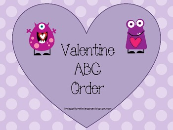 Valentine's Day Alphabetical Order