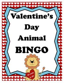 Valentine's Day Animal BINGO