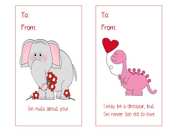 Valentine's Day Animal Themed Cards