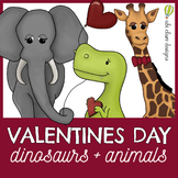 Love Animals & Dinosaurs Clip Art Set