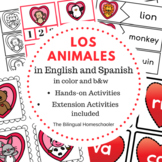Animals in Spanish Syllables Names Activities