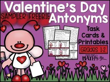 Valentine's Day Antonyms Sampler FREEBIE