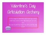 Valentine's Day Archery Articulation for /l/ (all positions)