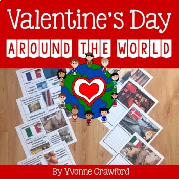 Valentine's Day Around the World Literacy Activities Growing Endless Bundle
