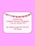 Valentine's Day Articulation Carryover Paragraphs (S, Z, R & TH)