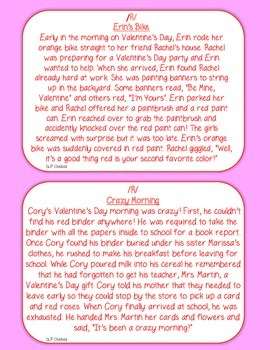 Valentine S Day Articulation Carryover Paragraphs S Z R Th By