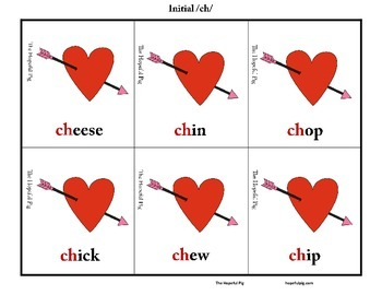 Valentine's Day Articulation Sort: Initial and Final /ch/ and /t/ Discrimination