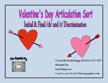 Valentine's Day Articulation Sort: Initial and Final /ch/