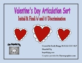 Valentine's Day Articulation Sort: Initial and Final /s/ and /t/ Discrimination