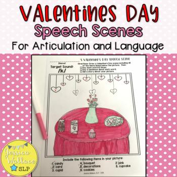 Valentines Day Articulation - Student Illustrated Speech Scenes