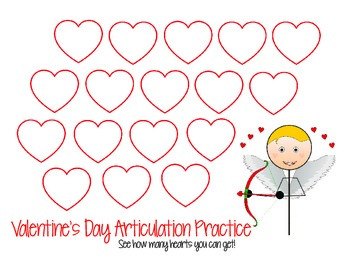 Valentine's Day Articulation Template