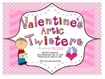 Valentine's Day Articulation Tongue Twisters k g Freebie