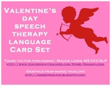Valentine's Day Assorted Speech Therapy Language Card Set
