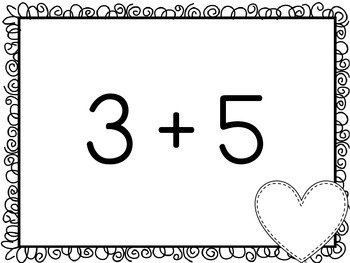 Valentine's Day Math BINGO for First Grade {Addition, Subtraction, & Subitizing}