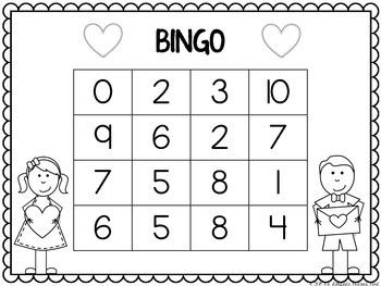Valentine S Day Math Bingo For First Grade