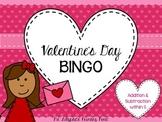 Valentine's Day Math BINGO for Kindergarten {Addition, Sub