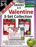 Valentine Math, Language, Bingo Activities