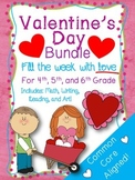 Valentine's Day BUNDLE Math, task cards, spelling, art, games, and more!