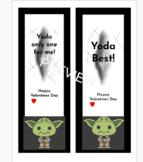 Valentines Day Baby Yoda Book Marks - Editable