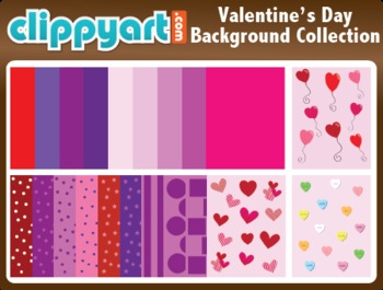 Valentine's Day Backgrounds Clipart Collection