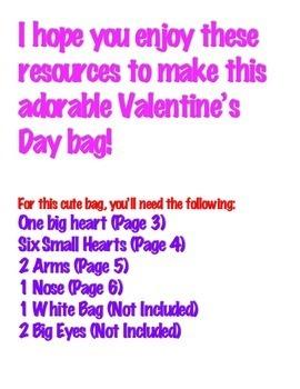 Valentine's Day Bag Printable