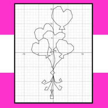 Valentine's Day - Balloon Hearts - A Coordinate Graphing Activity