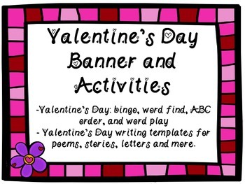 Valentine's Day Banner and Activities