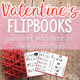 Valentine's Day Bass Clef Flipbooks