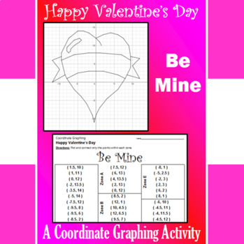 Valentine's Day - Be Mine - A Coordinate Graphing Activity