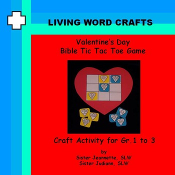 Valentine's Day Bible TicTacToe Heart Game for Gr. 1-3