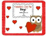 Valentine's Day Bingo (1-10) for K - 1