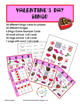 image relating to Valentine Bingo Printable known as Absolutely free Valentines Working day Bingo: 24 playing cards A Hughes Structure