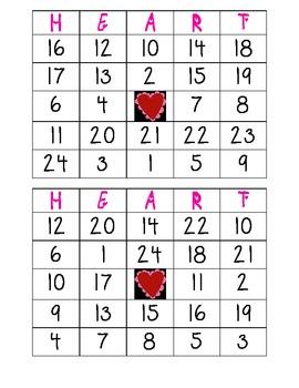 Valentine's Day Bingo (24 different cards)