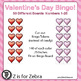 Valentine's Day Bingo - 30 Different Boards, Numbers, Tokens { Z is for Zebra }