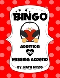 Valentine's Day Bingo: Adding 10 and Missing Addend