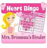 Valentine's Day Bingo Cards - Heart Bingo - 30 Unique Cards!