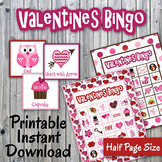 Valentines Day Bingo Cards and Memory Game - Printable - U