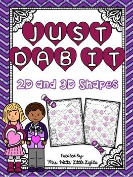 Valentine's Day Bingo Dauber Printables - Shapes