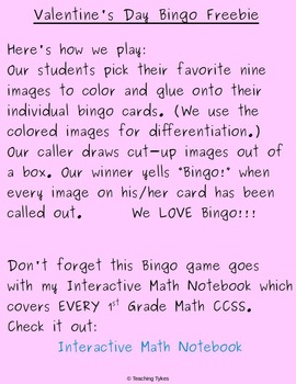 Valentine's Day Bingo FREEBIE