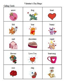 Valentine's Day Bingo Game