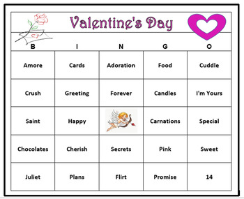 photograph regarding Printable Valentines Bingo Cards referred to as Valentines Working day Bingo Recreation- 60 Bingo Playing cards Printable!