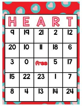 Valentines Day Bingo Game Addition