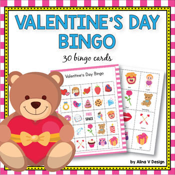 Valentines Day Bingo Game - Valentines Day Activities for Kindergarten